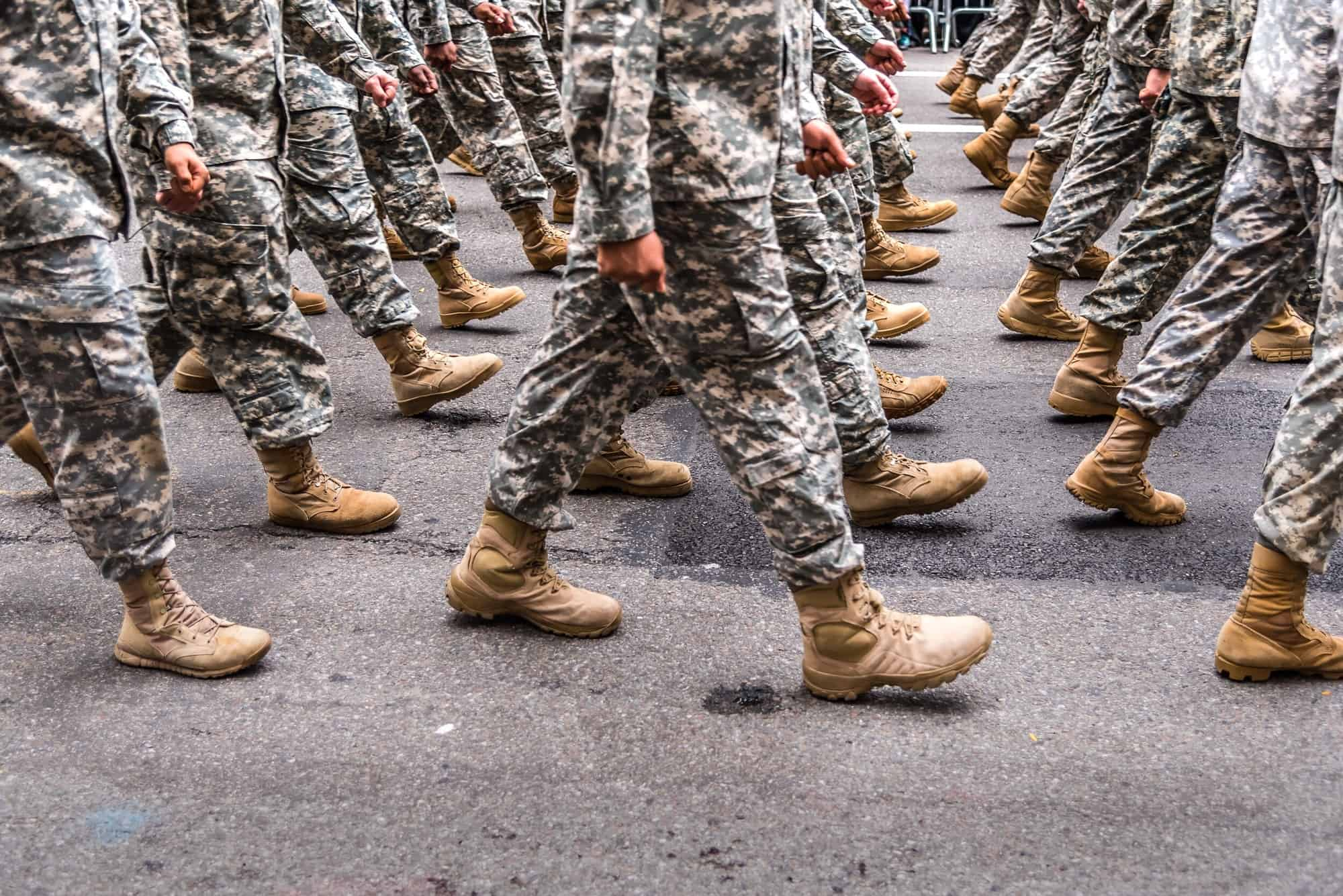 Army marching in New York.